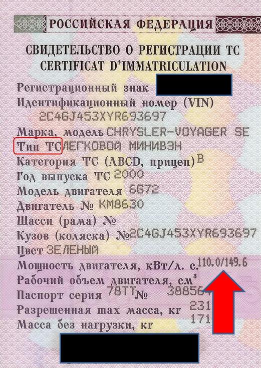 Изображение - Как посчитать транспортный налог tehpassport