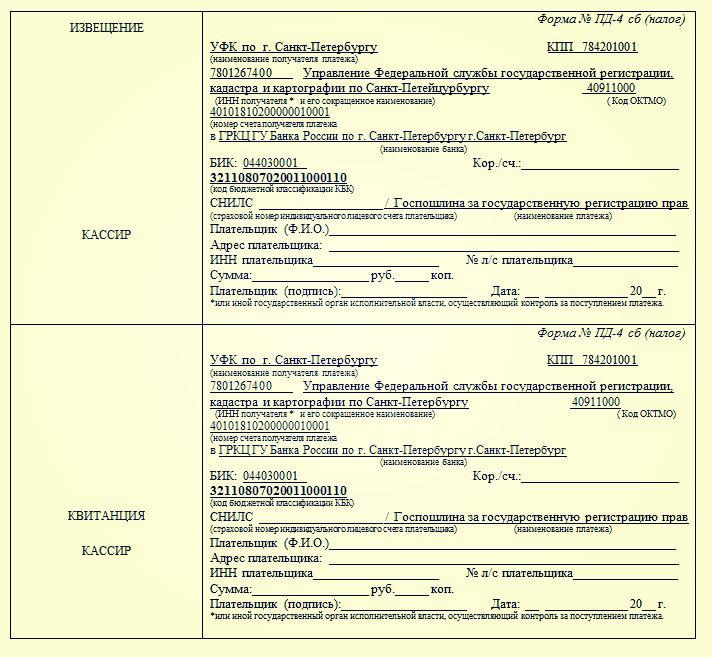 Госпошлина за регистрацию права собственности на квартиру
