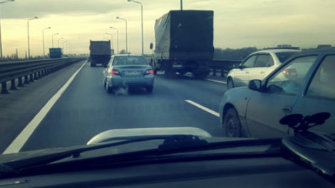 Пример опасного вождения