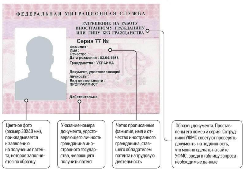 Патент на работу в СПб