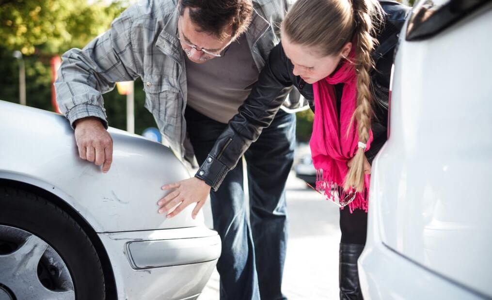 осмотр машины после дтп