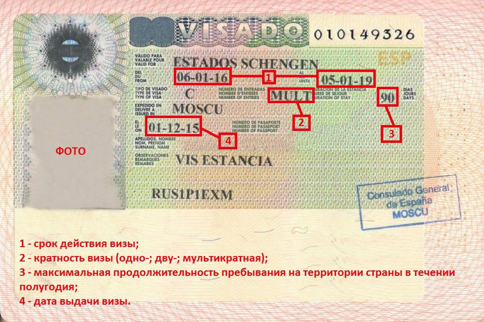 Как читать визу и что означают отметки