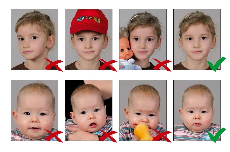 Как не стоит делать фото на загранпаспорт для ребенка