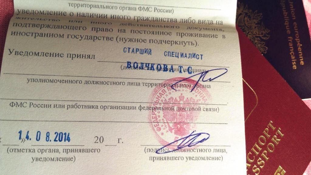 Уведомление о наличии второго гражданства в России: образец написания заявления в 2020 году